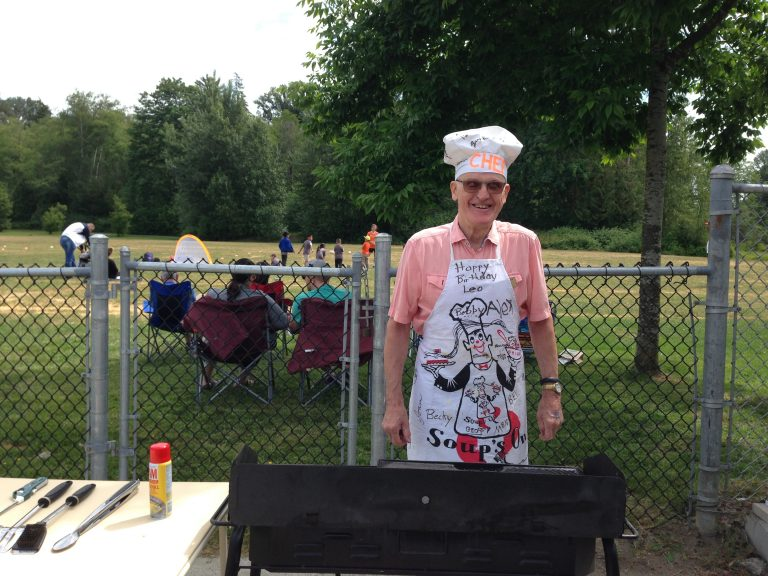 Our chef Leo, busy making hotdogs!