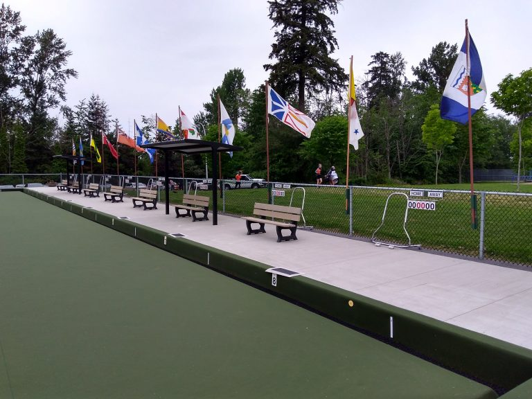 All the provincial flags on display